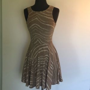 Beautiful gold and tan zebra stripe dress